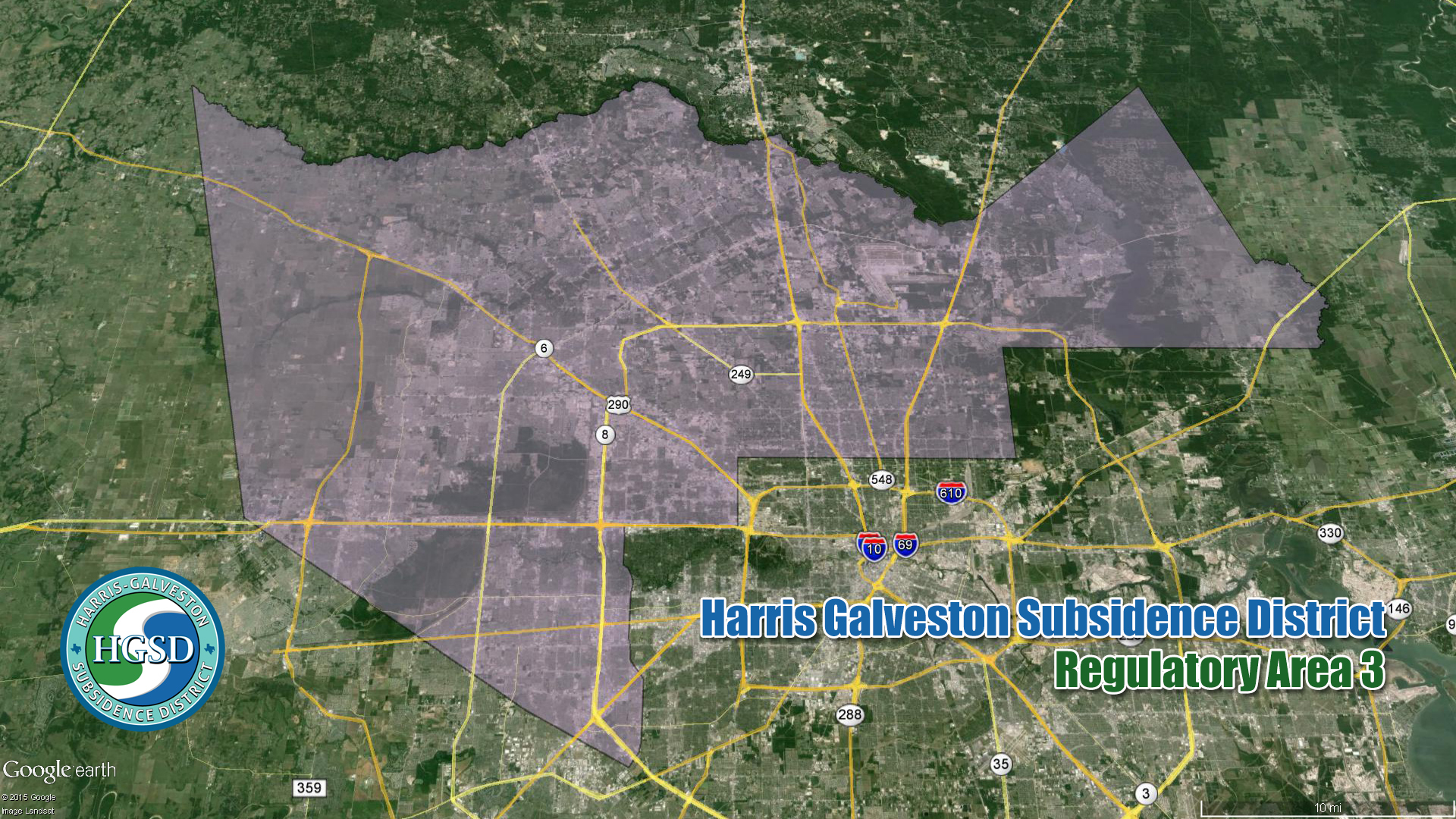 subsidence HGSD regulatory area 3